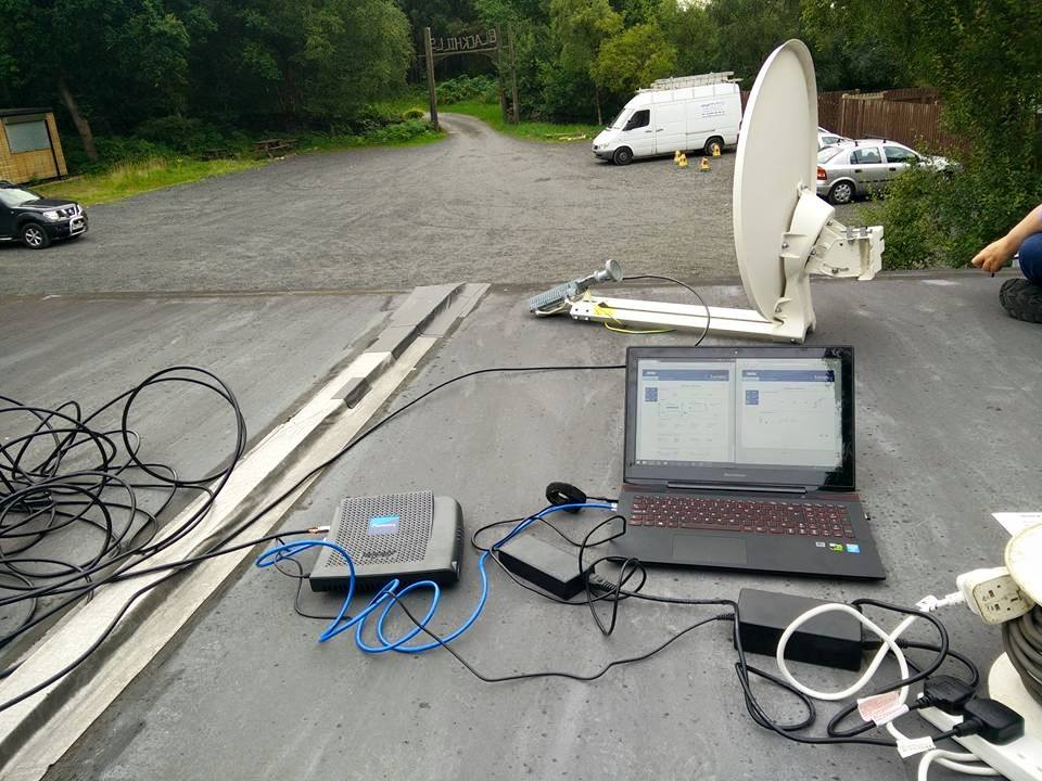 B.B.I.T.S setting up Blackhills-Campsite's new internet connection.