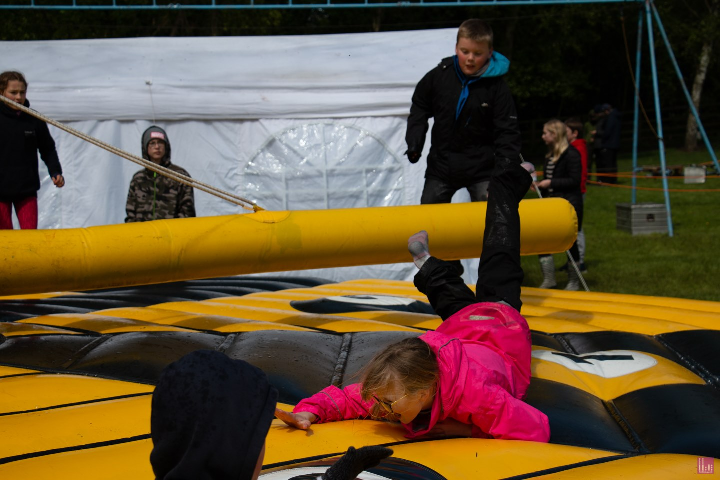 Having a bounce around Raywell Park Activity Centre for #Humberside Scout Camp